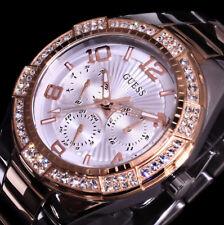 Excellanc Uhr Damenuhr Armbanduhr Silber RoseGold Farben STRASS Ri1