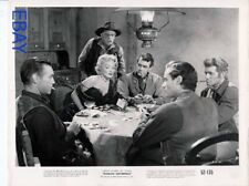Marlene Dietrich plays cards w/the boys and rules the table VINTAGE Photo