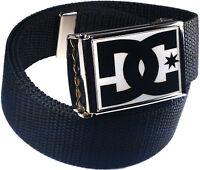 DC White Black Belt Buckle Bottle Opener Adjustable Web Belt