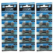 30 pcs AG10 GP189 SR54 LR1130 L1131 1.5V Alcaline Pile Bouton HyperPS