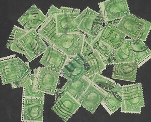 Postage Stamps For Crafting: 1920s 1c Benjamin Franklin; Green; 50 Pieces