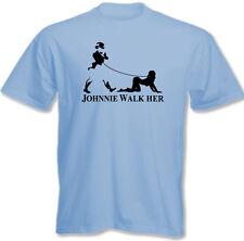 Johnnie Walk-Her (Walker) ~ Mens Funny Whisky Parody T-Shirt