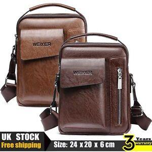 Men's High Quality Leather Shoulder Bag Cross Body Messenger Business Fashion