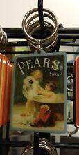 Pears Soap Keyring Retro 50s 60s retro Advert Sales Bath Painting Girl Puppy Dog