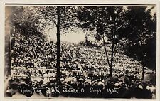D45/ Toledo Ohio Patriotic RPPC Postcard 1908 G.A.R. Encampment Living Flag 2