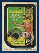 1980 Topps Wacky Packages #162 Screech (VG) Album Sticker