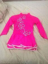 Girls Ballroom Pink Latin/Rhythm Dress fits sizes 5-10 years w/ hair accessory