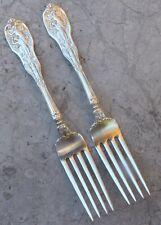 """(2) Gorham """"Mythologique"""", Forks, 1894,Sterling Silver"""