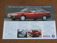 c1995 Daewoo Espero original Australian single page brochure