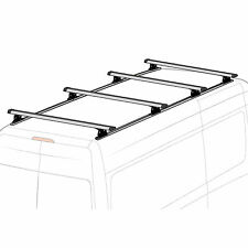 "Mercedes Sprinter 2007-on 144"" Low & High Roof 4 bar Silver Ladder Rack w/tracks"