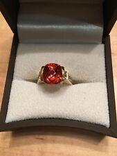 14kyg Custom Collectible 11mm Spessitite Garnet Ring