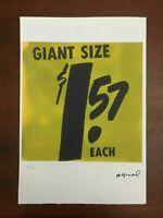 Andy Warhol Litografia 57 x 38 Arches Timbro Secco Israel Castelli AN514