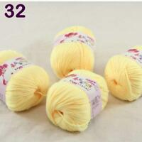 Sale lot 4 Skeins x50g Cashmere Silk Wool Children Hand Knitting Crochet Yarn 32