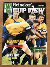 HEINEKEN EUROPEAN CUP VIEW MAGAZINE JANUARY 1998 inc feature on Bath Rugby