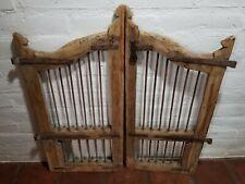Antique  Wrought Iron Wood window Frame