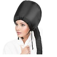 Portable Soft Hair Drying Cap Bonnet Hood Hat Blow Dryer Attachment With Pouch