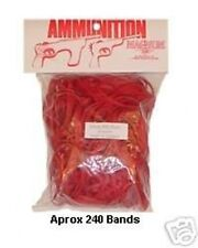 2 Med Packs Pistol Red Rubber Band Ammo for Wood Toy Shooter by Magnum RB324