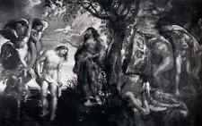 Rubens The Baptism Of Christ A3 Box Canvas