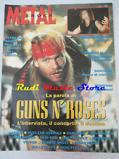 rivista METAL SHOCK 146/1993 +POSTER Quireboys Guns N'Roses Robert Plant  No cd