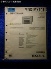 Sony Service Manual MDS MX101 Mini Disc Deck (#6266)