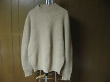 Vintage Men's L Large Beige Tan Knitted Style Sweater