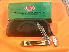 Case xx 2002 Cheetah Knife (MDL# 6111 1/2) w/ Burnt Moss Bone Handles -NOS