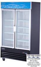 Spartan Refrigeration Sgm-53Rs Two Door Glass Cooler, Merchandiser w/ Casters