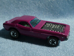 1973 Hotwheels Redline Show Off Dodge Challenger Funny Car Plum
