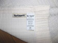 PIER 1 IMPORTS cream Pin Stripes Chenille Curtain Panel 53x87 Poly Ray 36791