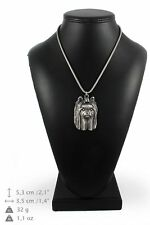 Yorkshire Terrier - silver plated necklace with silver cord, quality, Art Dog