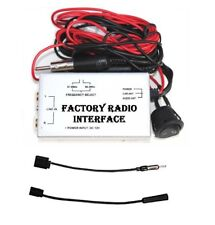 Wired FM Modulator Car Factory Radio Stereo Antenna Adapter Audio Input iPod MP3