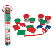 2 SETS, 15 PIECE EACH CREATE A CLAY DINOSAUR TUBE 6 DOUGH CONTAINERS, MOLDS