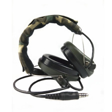 Military Headset Headphone Airsoft Radio Comtac IPSC OD for PTT Military Radio