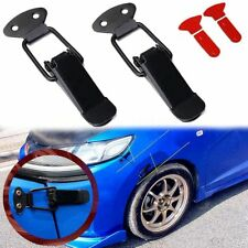 2pcs Universal Black Car Bumpers Trunk Fender Hatch Lids Release Fasteners Kit