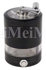 """2.5"""" Cnc Aluminum 4 Piece Led Hand Crusher Grinder Black Color Usa Seller49"""