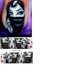 Nail Art Water Decals Stickers Transfers Halloween Tribal Vampire Skulls STZ738