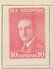 ALBANIA;  1925 early Hoxha issue Mint hinged 10q. value