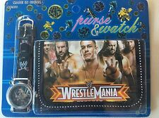 Kids Boys WWW Wrestlemania Wrestling John Cena Undertaker Wallet Watch Set 1