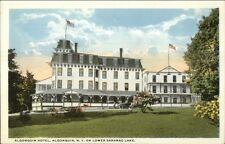 Algonquin NY Hotel Lower Saranac Lake c1920 Postcard