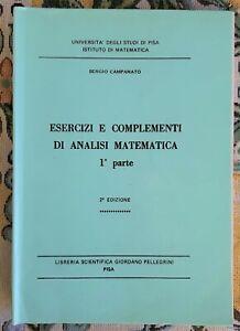INGEGNERIA ESERCIZI E COMPLEMENTI DI ANALISI MATEMATICA CAMPANATO PARTE PRIMA