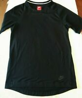 NIKE Bonded Tech Sportswear T Shirt Black Mens Small Short Sleeve Running