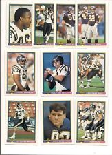 1991 Bowman San Diego Chargers Football Card Team Set (19 Different)