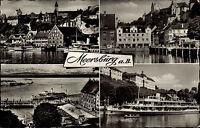 MEERSBURG Bodensee AK 50/60er Mehrbild-AK 4 Ansichten ua. Schiff im Hafen uvm.