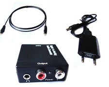 3.5mm Optical Toslink Digital Coaxial to Analog Audio Converter Adapter RCA L/R