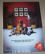 2001 print ad -Home Depot carpet Boy dog cat bird turtle bunny advertising page