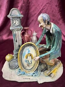 Lo Scricciolo Italia Toni Moretto Sculpture Figure Antique Dealer Peddler MINT