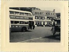 PHOTO ANCIENNE - VINTAGE SNAPSHOT - JERSEY HÔTEL GOREY BUS AUTOBUS AUTOCAR 1955