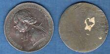 Cliché uniface en plomb - Ch Michel de l'Epée né à Versailles 1712 mort 1789