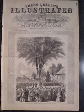 Senior Class Day Harvard Collage Cambridge Mass Leslie's 1856 Original 2 Pages