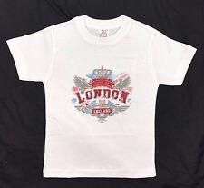 Kids Children's London England 100% Cotton T-Shirt 1 -12 Years
